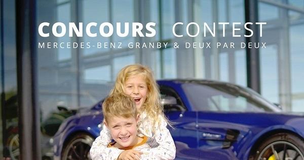 Concours Gagnez une SUPER VOITURETTE 100 % électrique de Mercedes-Benz Granby + 200 $ en vêtements Deux par Deux!