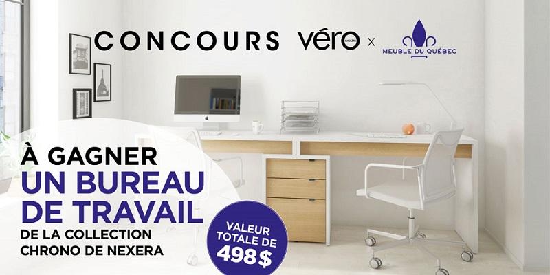 Concours GAGNEZ UN BUREAU DE TRAVAIL DE LA COLLECTION CHRONO DE NEXERA!