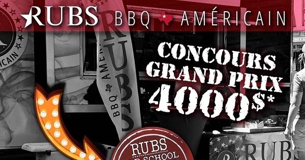 Concours Gagnez un service traiteur à votre domicile ou bureau offert par Rubs BBQ Américain!