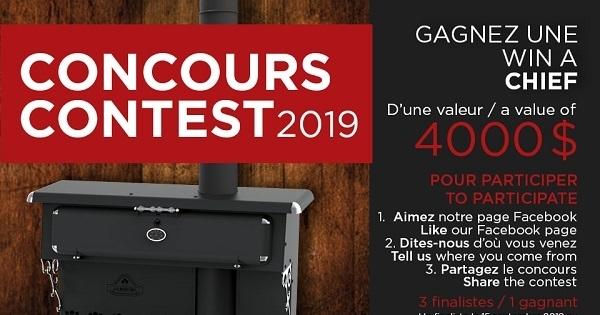 Concours Gagnez une cuisinière modèle CHIEF d'une valeur de 4000$!