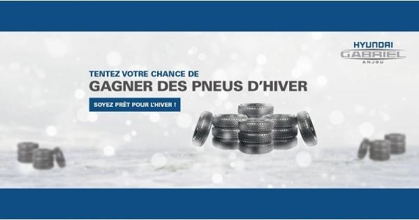Concours Gagnez des pneus d'hiver!