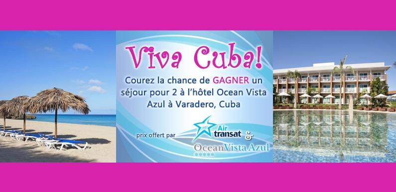 Concours Gagnez un séjour pour deux à Varadero, Cuba!
