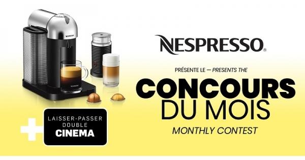 Concours Gagnez une Machine Vertuo Chrome Nespresso!