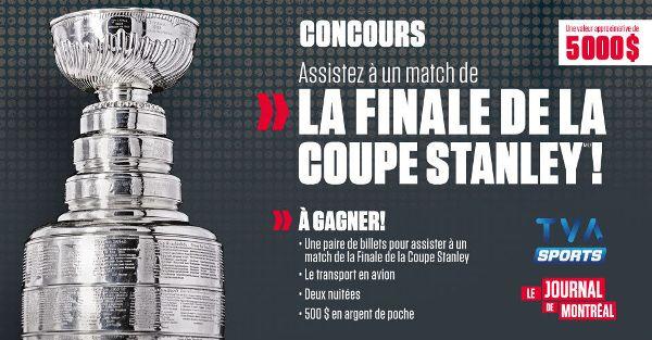 Concours Assistez à un match de la finale de la Coupe Stanley!