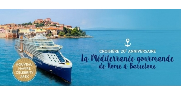 Concours Gagnez une croisière - La Méditerranée gourmande de Rome à Barcelone!