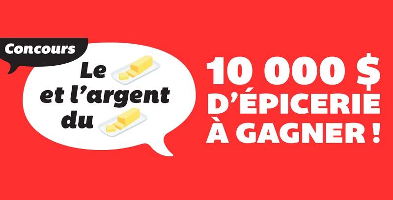 Concours Gagnez 10 000 $ d'épicerie chez IGA!