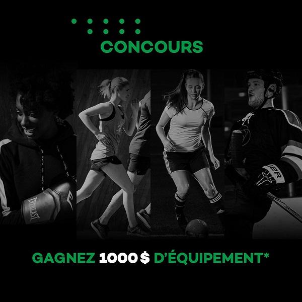 Concours Gagnez 1000$ d'équipement chez Sportium!