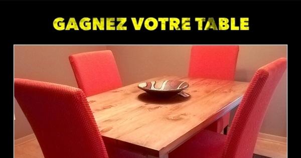 Concours Gagnez une table offerte par Atelier Bleu de Plume!