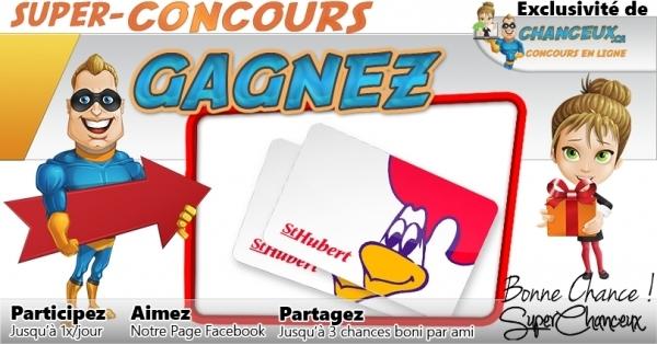Concours Gagnez une Carte-Cadeau St-Hubert de 50$