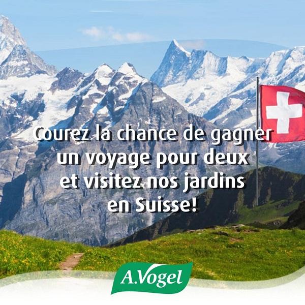 Concours Gagnez un Voyage pour deux en Suisse!
