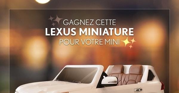 Concours Gagnez cette Lexus miniature offerte par Boulevard Lexus!