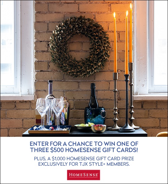 Concours Gagnez l'une des 3 cartes-cadeaux Homesense de 500$ chacune!
