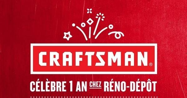 Concours Gagnez 1 800 $ de produits Craftsman Réno-Dépôt!