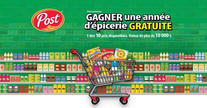 Concours Gagnez une année d'épicerie gratuite!