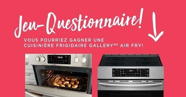 Concours Gagnez une cuisinière Air Fry de Frigidaire!