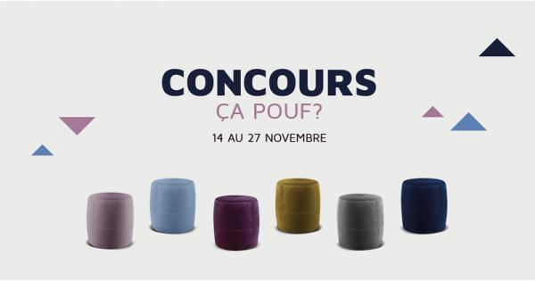 Concours Gagnez un Pouf offert par Bouvreuil!