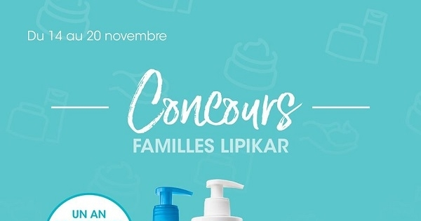 Concours Gagnez UN an de produits Lipikar!