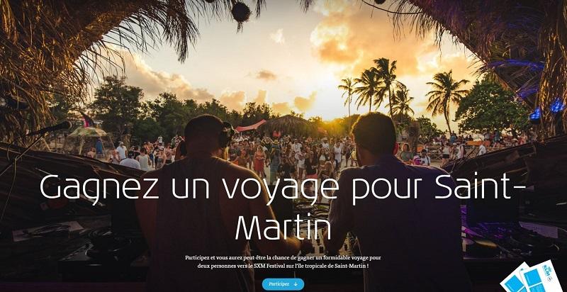 Concours Gagnez un voyage pour Saint-Martin!