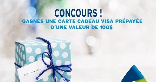 Concours Gagnez une carte cadeau Visa prépayée d'une valeur de 100$!