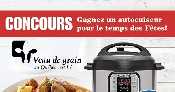 Concours GAGNEZ UN AUTOCUISEUR POUR LE TEMPS DES FÊTES!