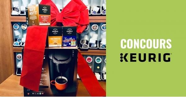 Concours Gagnez une cafetière Keurig K-Compact avec 4 boîtes de café!