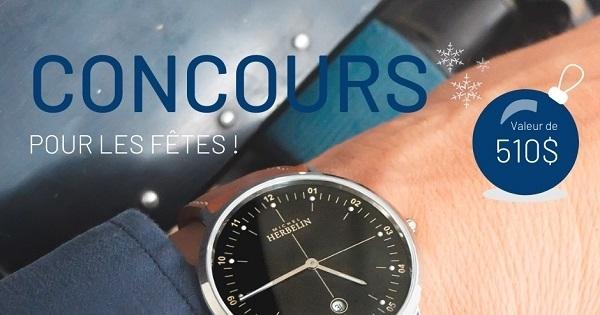 Concours Gagnez une montre City de Michel Herbelin d'une valeur de 510$!