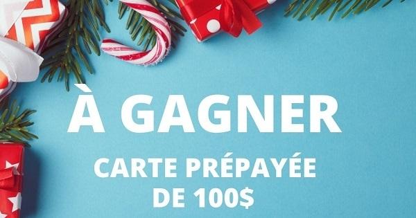 Concours Gagnez une carte prépayée Visa d'une valeur de 100$!