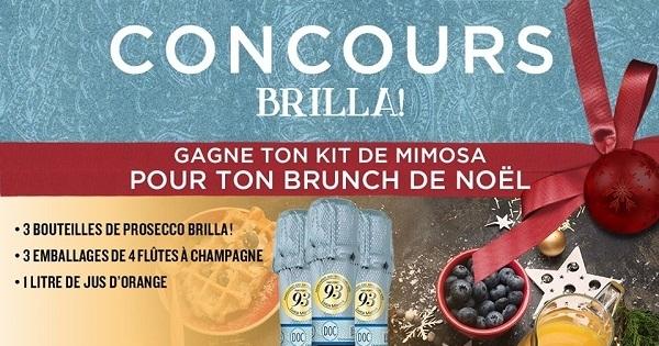 Concours Gagne ton kit de Mimosa pour ton Brunch de Noel!