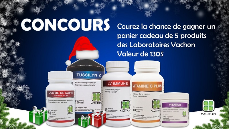 Concours Gagnez un panier cadeau de produits pour vous aider à combattre les infections de l'hiver!