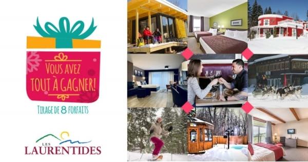 Concours Les Laurentides ; Vous avez tout à gagner! HIVER 2019-2020!