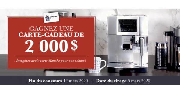 Concours Gagnez une carte cadeau Linen Chest de 2 000$!