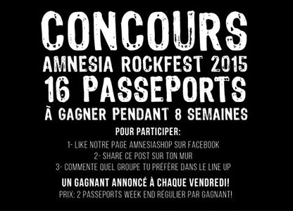 Concours Amnesia Rockfest