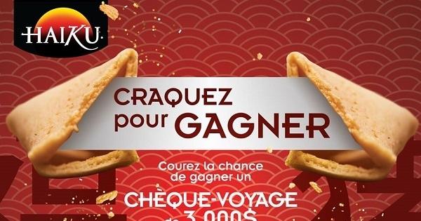 Concours Gagnez un CHÈQUE-VOYAGE DE 3 000 $ ou 1 des 10 prix secondaires!