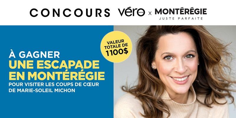 Concours GAGNEZ LES 5 COUPS DE COEUR DE MARIE-SOLEIL MICHON EN MONTÉRÉGIE!