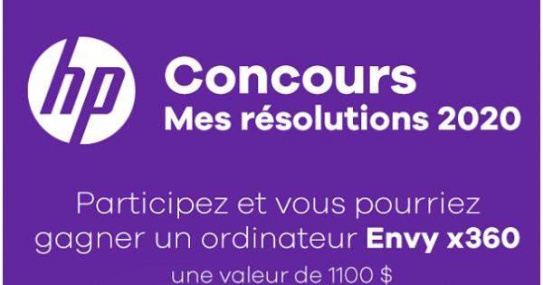Concours Gagnez un ordinateur HP ENVY de HP d'une valeur de 1100$!
