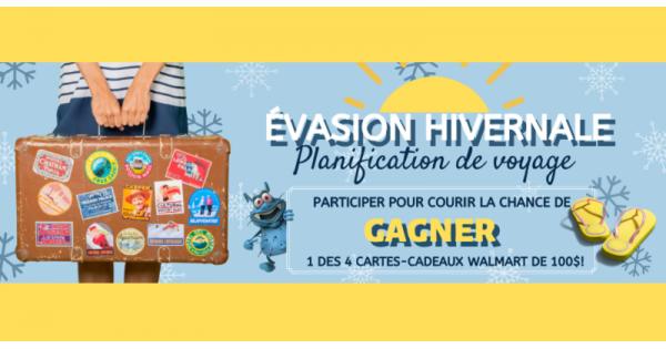 Concours Gagnez une des 4 cartes-cadeaux Walmart de 100$ chacune!
