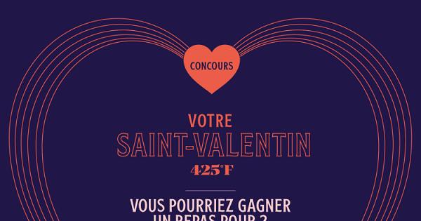 Concours Gagnez un repas pour 2 au restaurant 425F. incluant les accords mets et vins!