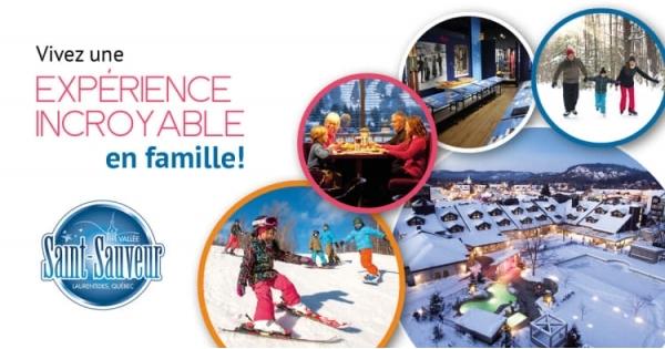 Concours Vivez une expérience incroyable en famille dans la Vallée de Saint-Sauveur!
