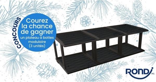 Concours Gagnez un plateau à bottes modulaire offert par Les Industries Rondi!