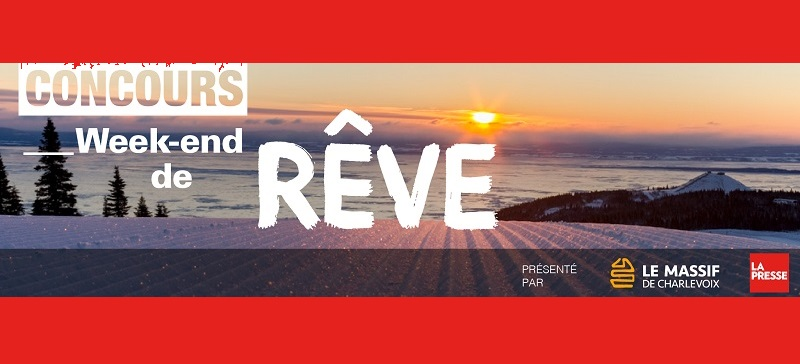 Concours Gagnez une fin de semaine de rêve pour deux au Massif de Charlevoix!