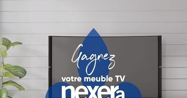 Concours Gagnez votre meuble TV fabriqué au Québec par Nexera!