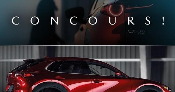 Concours Gagne un weekend à rouler à bord du nouveau Mazda CX-30 ainsi qu'une carte cadeau de 200$ de ton choix!