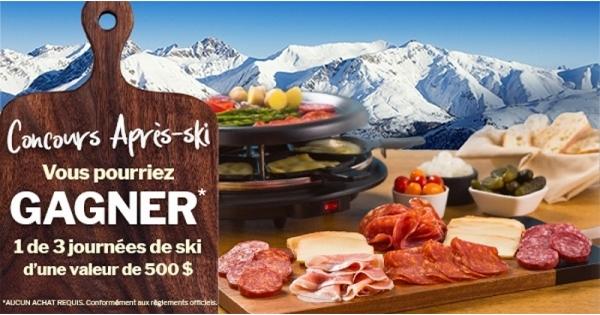 Concours Gagnez une des 3 journées de ski d'une valeur de 500$ chacune!
