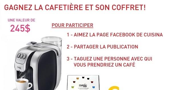 Concours Gagnez une cafetière Caffitaly et son coffre de dégustation!