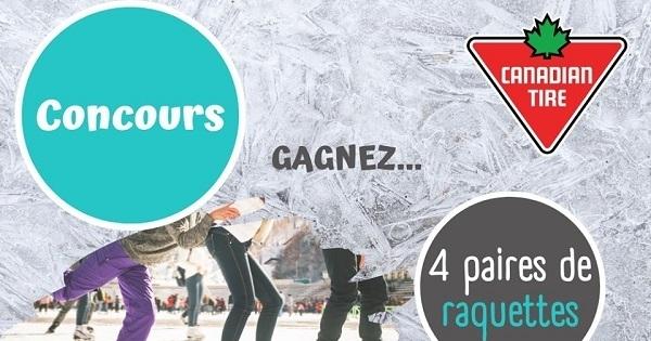 Concours Gagnez 4 paires de patins OU 4 paires de raquettes!
