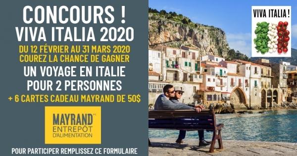 Concours Gagnez un voyage en Italie pour 2 personnes!