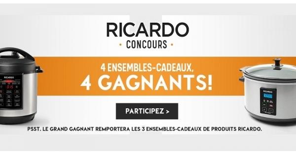 Concours Gagnez un ensemble cadeau Ricardo!