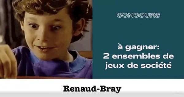 Concours Gagnez l'un des 2 ensembles de 5 jeux de société offerts par Renaud-Bray!