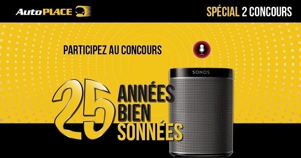 Concours GAGNEZ UN DES 5 ENSEMBLES DE HAUT-PARLEURS INTELLIGENTS SONOS ET UN DES 20 GOOGLE HOME NEST MINI!