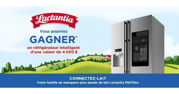 Concours Gagnez un réfrigérateur intelligent d'une valeur de 4000$!